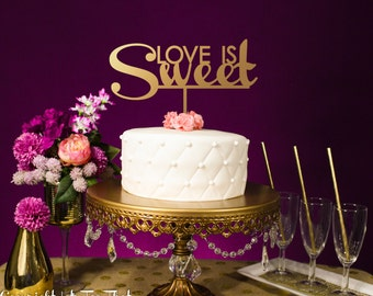 Love is Sweet Wedding Cake Topper Party Anniversary