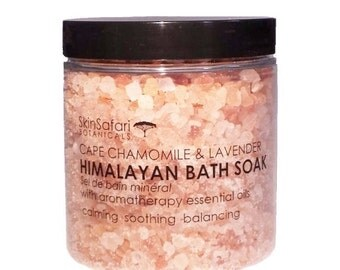 HIMALAYAN BATH SOAK Salts, with Relaxing and Soothing Pure Aromatherapy Essential Oils 300g / 10oz