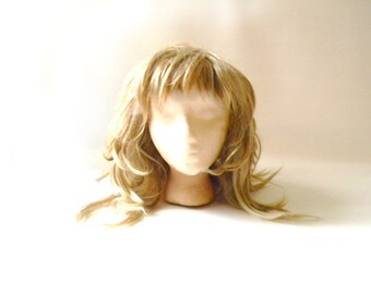 Vintage Women's Long Blonde Wig / Costume Wig