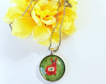 Sriracha Bunny Necklace