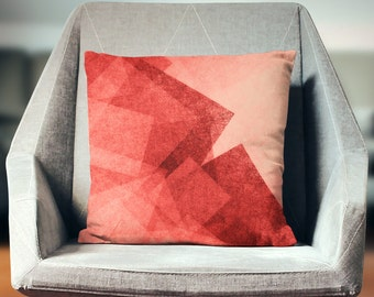 Red Throw Pillow | Red Decor | Red Home Decor | Red Pillow Case | Red Pillow | Red Pillow Cover | Red Gift | Red Cushion |
