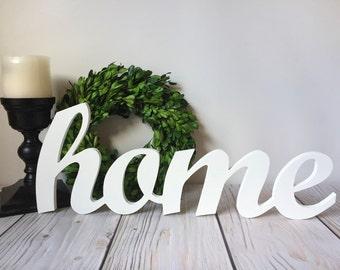 Home Sign - Rustic Home Decor - Farmhouse Decor - Wood Signs - Rustic Wood Sign - Farmhouse Kitchen - Wall Decor - Wall Art - Home - Sign