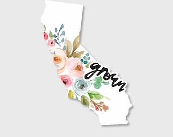 California sticker, California decal, California map, Yeti Decal, Yeti Stickers, Car decals for women, Car Stickers, Vinyl Decal, Stickers