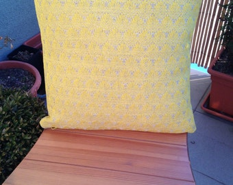 Decorative Throw Pillow, Yellow Leafs, Cushion, Throw Pillow, Couch Bed Pillow