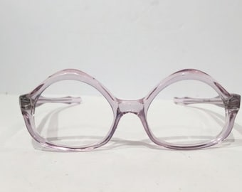 Vintage Swank Purple Eyeglasses, 1960's Translucent Cat Eye Glasses Frames, French Cat Eye Sunglasses, New Old Stock, Hipster Rockabilly