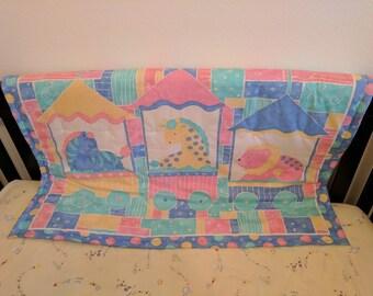 Circus Train Crib Quilt