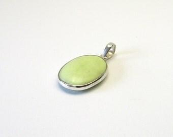Beautiful lemon Chrysoprase jewelry pendant Sterling Silver 925 Chrysoprase