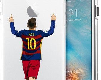 Lionel Messi Transparent Soccer Series Tpu Case for Apple iPhone 5/SE; iPhone 6/6s (4.7); iPhone 6/6s Plus (5.5); iPhone 7; iPhone 7 Plus