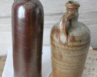 2 bottles in ancient sandstone - ceramic and pottery - French pottery