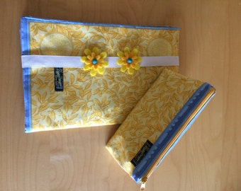 Daiper bag yellow-blue