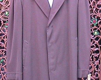 46 R Vintage 50s Long Gaberdine Coat MLGC001