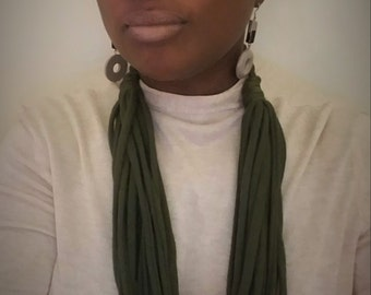 Infinity Scarf/Necklace (Olive Green)