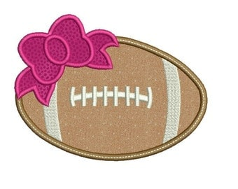 Football applique design - Football embroidery design - Rugby embroidery design - Instant download - Machine embroidery design - 3 size