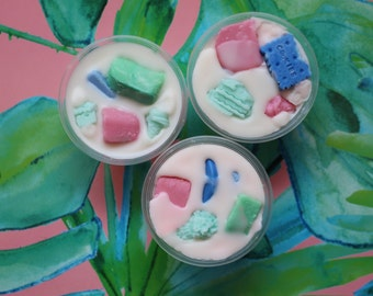 Kiddie's Candy Bag - Salt Water Taffy, Cotton Candy, Fruit Loops Scented Soy Wax Scent Shot - The Waxy Bar