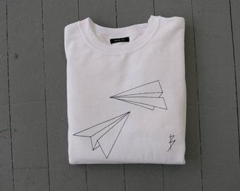 Origami Paper Plane Sweatshirt