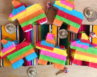 Mini pinata, Pinata, Mini donkey pinata, Fiesta decorations, Fiesta favors, Mexican party favor, Mexican party decorations, Set of 5