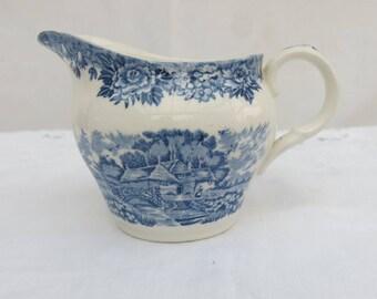 Vintage Blue and White Milk Jug by the Salem China Company, England