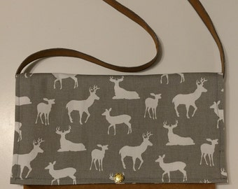 Deer messenger bag