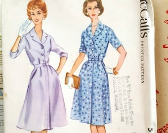 1960 McCall's 5555 Misses Shirtwaist Dress Size 18.5 UNCUT Sewing Pattern ReTrO