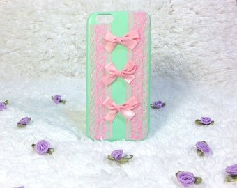 Pastel Girly Lace Ribbon Iphone6/6s Case