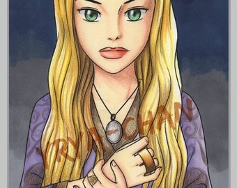 Original A4 Artwork - Cersei Lannister - Pencil & Marker Illustration, 21 x 29,7 cm, game of thrones, portrait, fanart, anime style, tv show