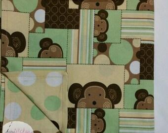 Peek-a-boo Monkeys Blanket