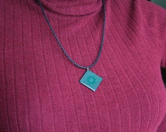 Computer Chip Pendant - Recycled Parts Jewelry - Electronic Gift - Geeky Gift - Unique gift for Her - Geeky Necklace