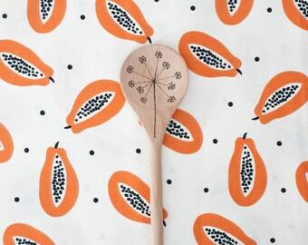 Wooden spoon dandelion design