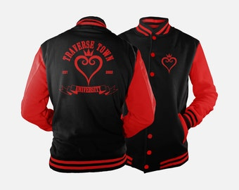 Traverse Town University Varsity Jacket inspired by Kingdom Hearts
