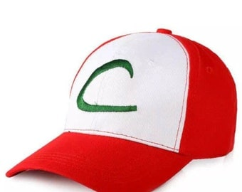 Children's Kids Ages 5-14 Pokemon Ash Ketchum Unisex Cotton Baseball Cap for Halloween or Birthday Costume Party - One Size