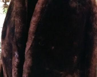 Mouton Coat Swing Coat Brown Lloyd's Fur Denver Medium