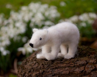 Commissions* Super Cute Polar Bear Needle Felted Ornament Custom Made Decoration Gift Snow Cool