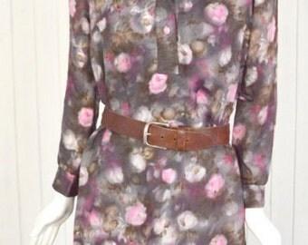 Stunning Vintage 70s Floral Dress