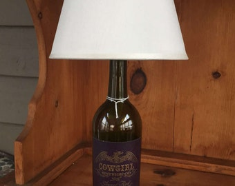 Cowgirl Red Wine Table Lamp (750ml Bottle)