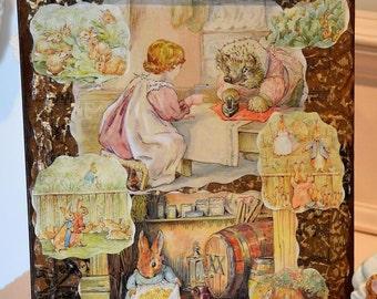 Beatrix Potter Decoupage Clipboard