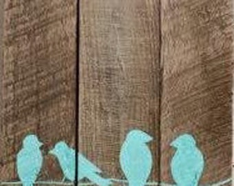 Handmade Bluebirds wall art