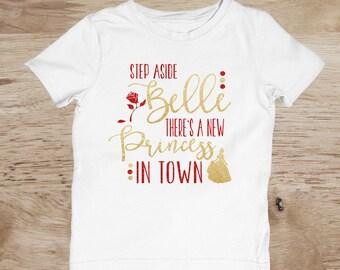 Beauty and The Beast Shirt, Disney Princess Shirt, Glitter, Princess Birthday Shirt, Princess Birthday Shirt, Belle