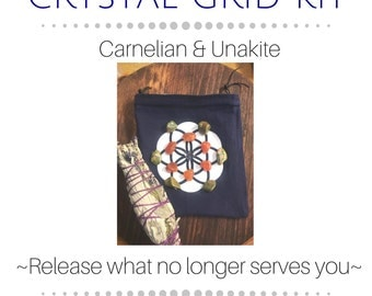 Healing Crystal Grid Kit to Release Negativity