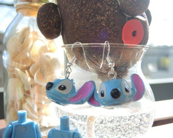 Lego Stitch earrings