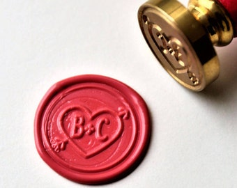 Personalized  monogram wax seal stamp/initials Custom wedding seals/wedding invitation seal/custom wedding stamp