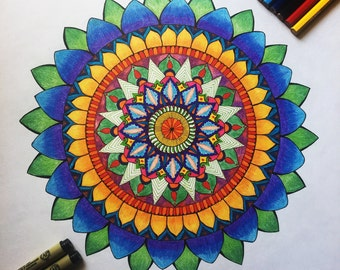 Colourful - Powerful Chakra Mandala Original Art