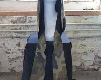 Mason & Maker | hooded scarf | fashion hood | shood | camo | accessories | scarf | fashion accessories