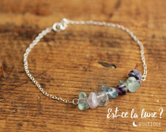 "SILVER 925 - Bracelet ""Beautiful stone"" Fluorite"