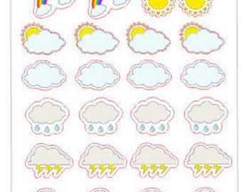Planner Stickers Weather Tracker Medium Icons