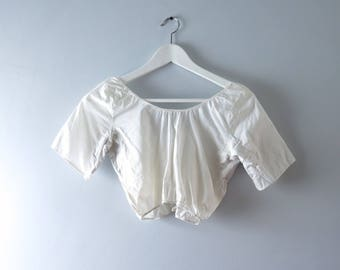 Vintage Camisole - 1950s White Camisole Under Blouse XS/S