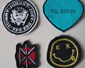 Machine Embroidered Patches Satin Stitched Edges Nirvana, Dead Kennedys, Ramones, Breaking Bad or Monster High