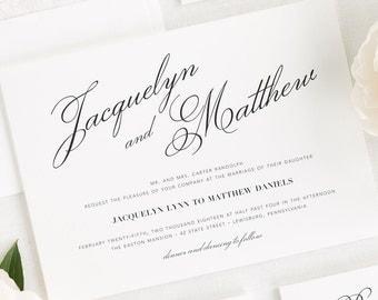 Vintage Romance Wedding Invitations - Deposit