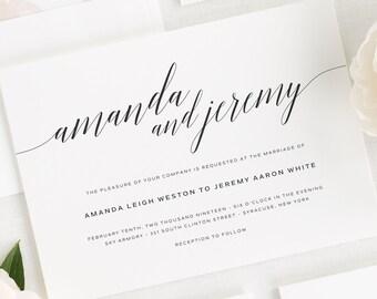 Daring Romance Wedding Invitations - Deposit