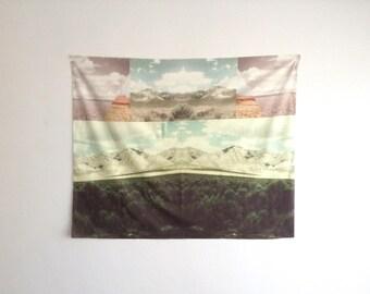 Desert Landscape Mantra Wall Hanging