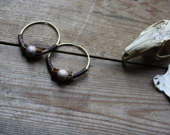 Allium - earrings, stainless steel posts